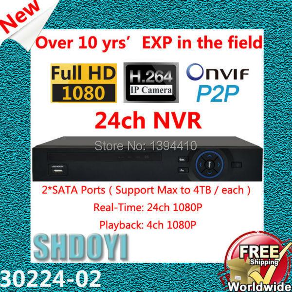 30224 NVR 24ch cctv recorder NVR for ip camera Network Video Recorder Security Camera Recorder Hard Disk Recorder onvif 1080p(China (Mainland))