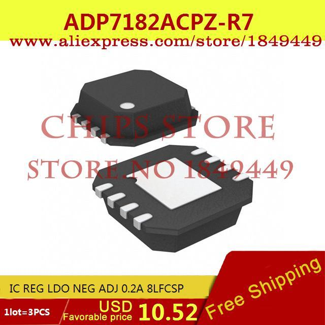 Бесплатная Доставка Электронный Регулятор Напряжения ADP7182ACPZ-R7 IC REG LDO NEG ADJ 0.2A 8 16LFCSP 7182 ADP7182 3 ШТ.  sela st 113 1101 7182