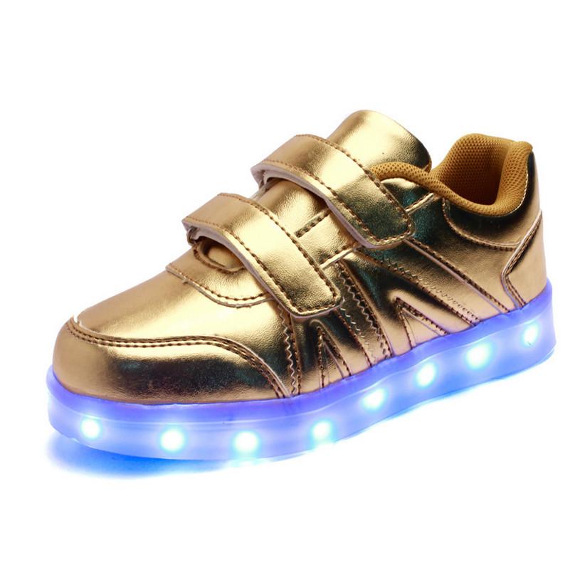 2016 Kids Shoes Light Boys USB Led Chaussures Enfants Dor Children Girls Sneakers
