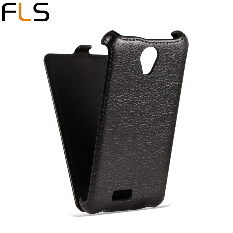 (Clear Stock) Fly IQ4416 Case Flip leather Cover for Fly IQ4416 ERA Life 5 Lichee Pattern Phone Cases Mobile Phone Bag P006(China (Mainland))