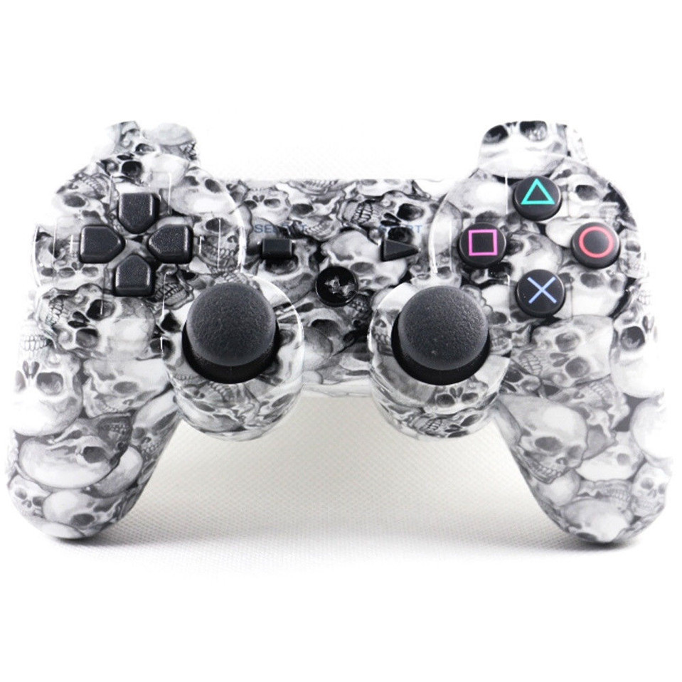 2016 New Gaming Accessories 4 Styles For sony playstation 3 Wireless Bluetooth Controller Joypad Camo Skull Joystick For PS3(China (Mainland))