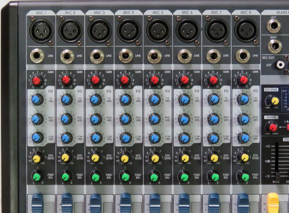STARAUDIO SMX-8000B Pro DJ Stage 8CH 3000W Amplifier Power Mixer MP3 Bluetooth USB 16SDP & Wired Handheld Dynamic Microphone