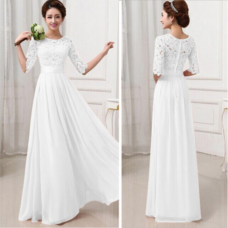 Women Long Sexy Evening Party Ball Prom Gown Formal Bridesmaid Dress(China (Mainland))