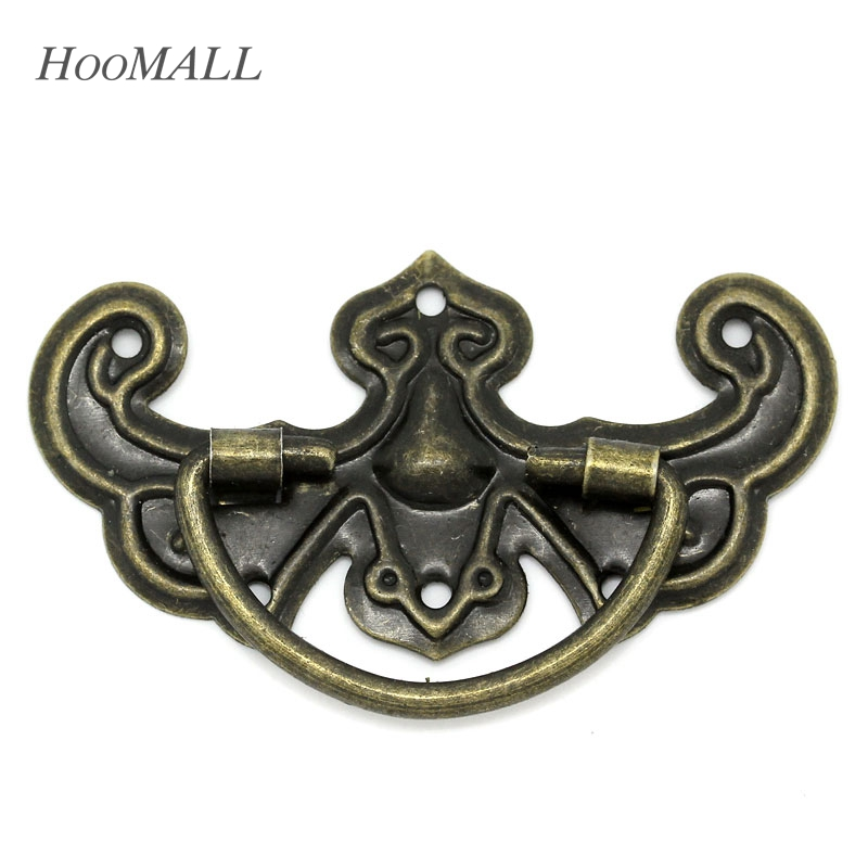 Hoomall 30PCs Vintage Furniture Cabinet Knobs And Handles Bronze Tone Pattern Drawer Cabinet Desk Door Pull Handle Knob Hardware(China (Mainland))