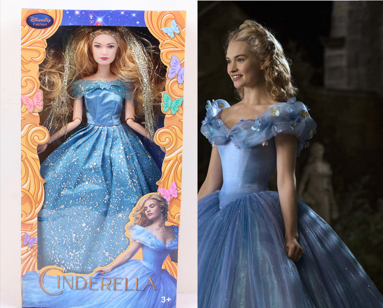 2014 30cm new free shipping High quality princess cinderella doll kid's plastic toy Wholesale(China (Mainland))