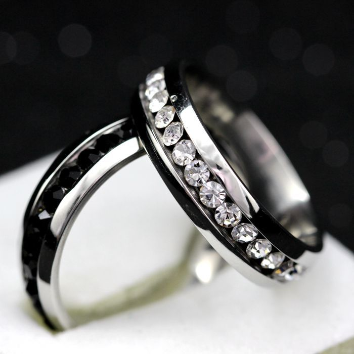 Aliexpress Buy Stainless Steel Ring Mens Titanium Black Wedding Band Rings Women Cubic