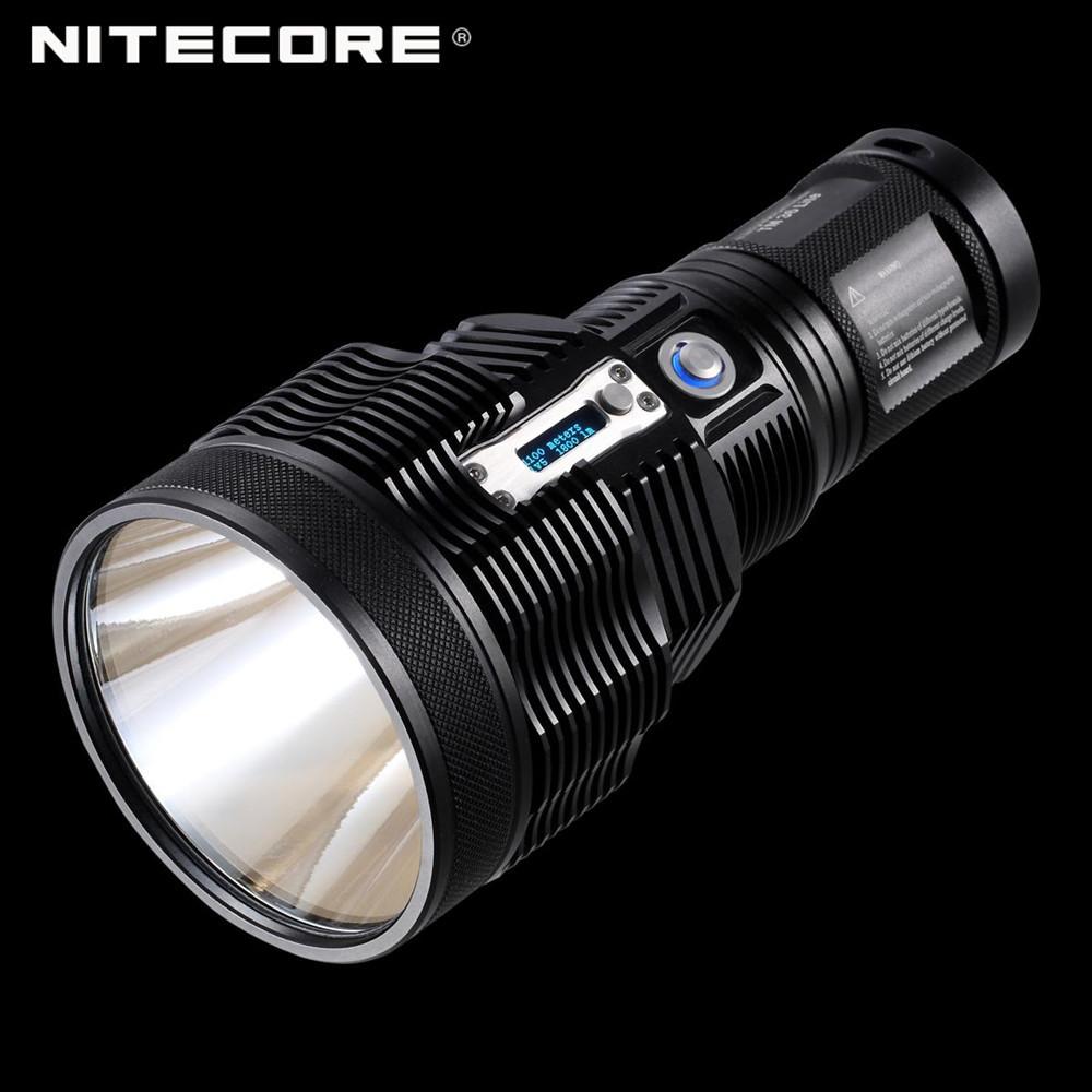 Free Shipping NITECORE TM36 Lite 1800 Lumens 1100 m Long Range Powerful LED Portable Searchlight Flashlight with OLED Display(China (Mainland))