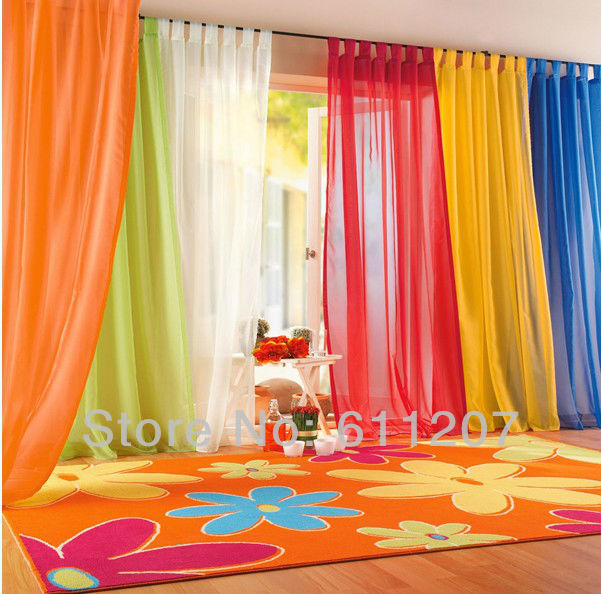 Hot Pair Europe Gauze Tulle sheer curtains Net Voile Ready made Curtain 2 panels 140cm*245cm 23colors For living room windows(China (Mainland))