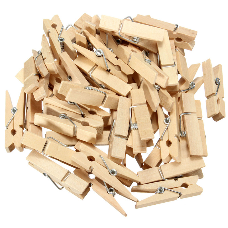 50pcs Natural Color Wooden Clothespin Clips Album Photo Picture Paper Memo Pegs Craft Kids Scrapbooking DIY Decor 5 Sizes(China (Mainland))