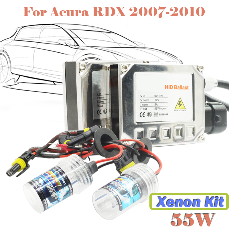 55W HID Xenon Kit Ballast & Bulb 3000K-15000K For RDX 2007-2010 Car Fog Lamp Daytime Running Light DRL(China (Mainland))