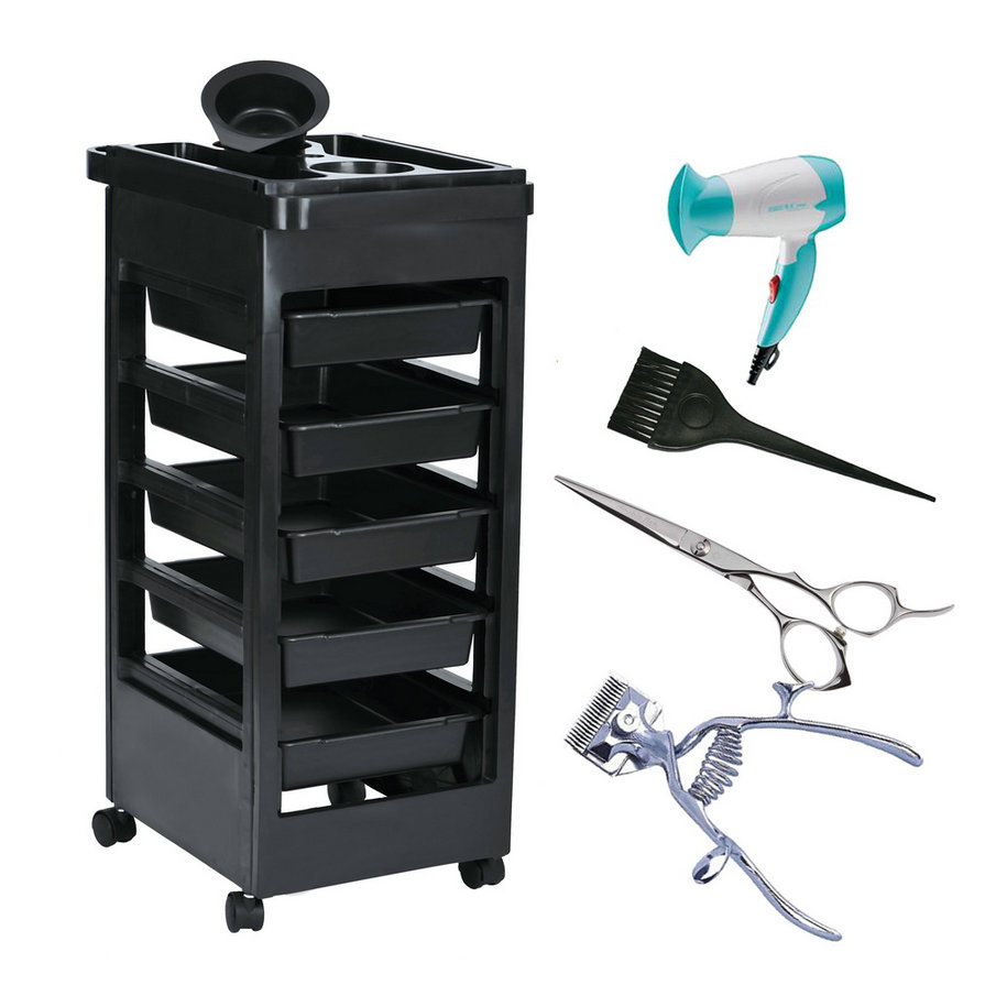 2016 Beauty Salon Trolley Station Equipment Rolling Storage Removable Tray Cart<br>