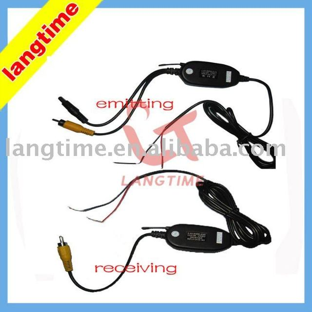 Free shipping--2.4G wireless system to all car rearview cameras with RGB av in