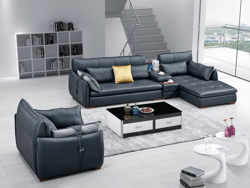 Lizz Modular Lounge And Sofa Suits Sectional Sofa With Coffee Table Leather Chaise Couch In