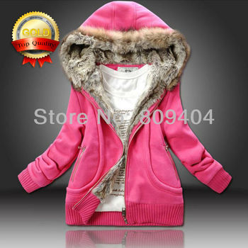2015 Spring New Fur Collar Sunlun Ladies' Cotton Hooded Jacket Hoodies,Women's Long Sleeve Tracksuits,sport suit women,harajuku