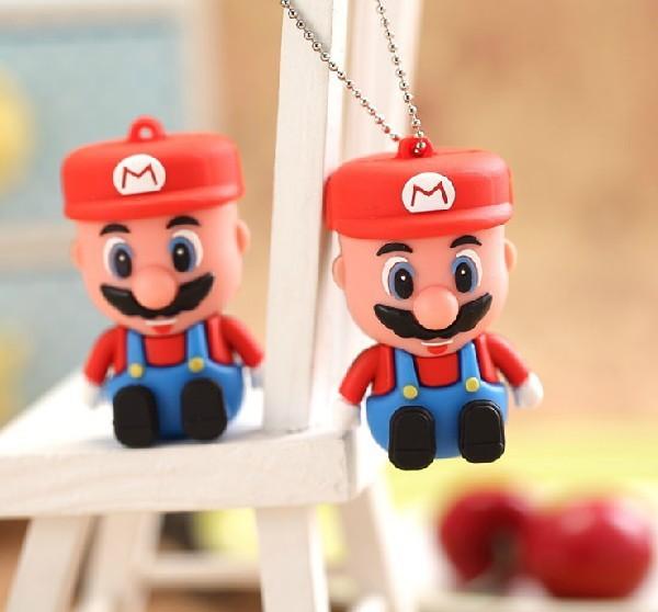 100% Genuine Capacity thumbdrive Super Mario usb flash drive 32gb 64gb pen drive 4gb 8gb 16gb memory flash stick U disk(China (Mainland))
