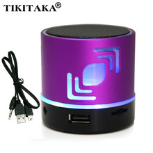 2016 New Luxury Smart Mini Portable Wireless Bluetooth Speaker LED Light Stereo Hands free Speaker for Sumsung/Iphone/Smartphone(China (Mainland))