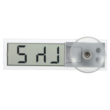 1pcs Mini Durable Transparent Car Electronic Clock LCD Display Digital with Sucker New Free Shipping(China (Mainland))