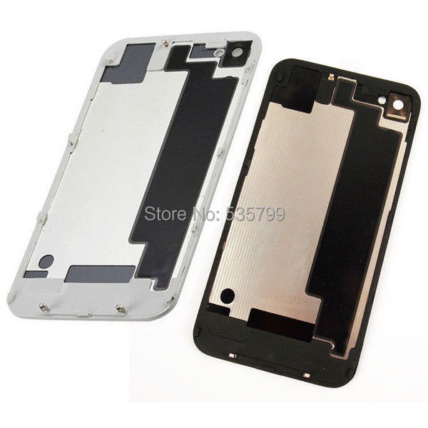iPhone 4s New Replacement Glass Back Battery Cover Door black white - UDream store