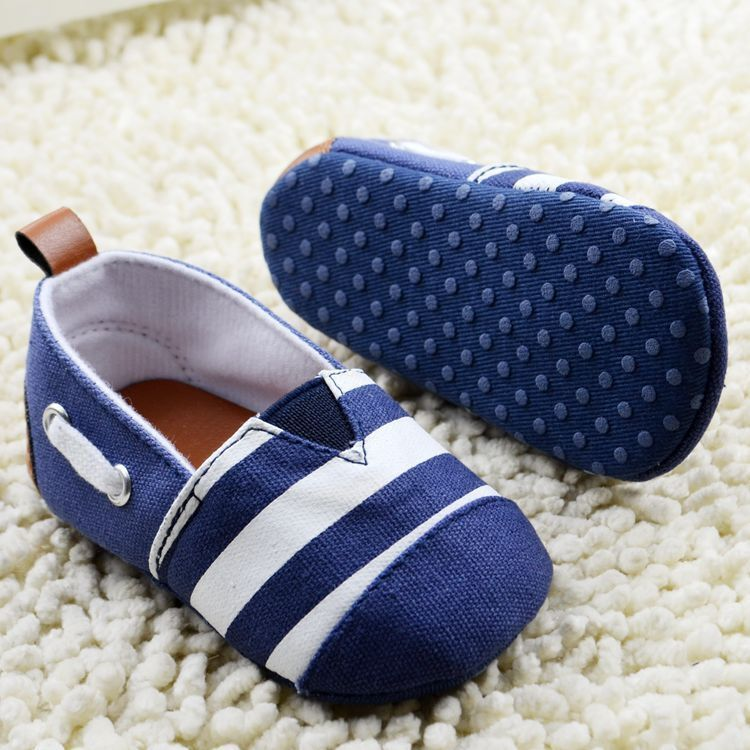 1 pcs Retail Stripe baby shoes boys girls summer spring autumn newborn infant(China (Mainland))