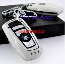 Free Shipping ABS Plastic Key Case Cover Bag Holder For B.MW Car + Metal Keychain for Car Key Rings White Black Red Gold(China (Mainland))