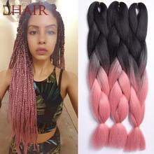 Natural Black Pink Braiding
