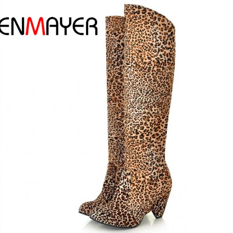 ENMAYER Free shipping  knee high heel ladies sexy fashion causual boots size 34-39<br><br>Aliexpress