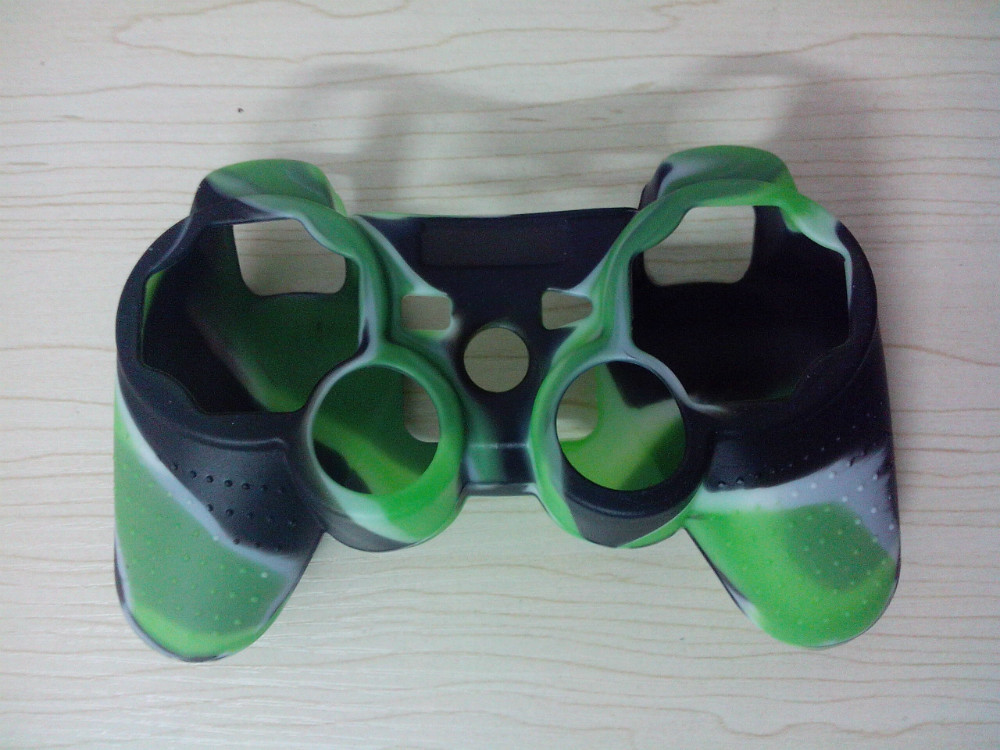 Good quality 2pcs/lot Camouflage Silicone Case Skin Cover for PS3 Wireless Controller GB-000200(China (Mainland))