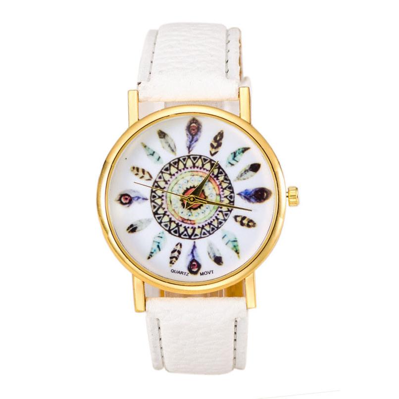 Attractive Colorful Women Polka Dot Dial Quartz Trend Leather Strap Bracelet Analog Watch AG3<br><br>Aliexpress