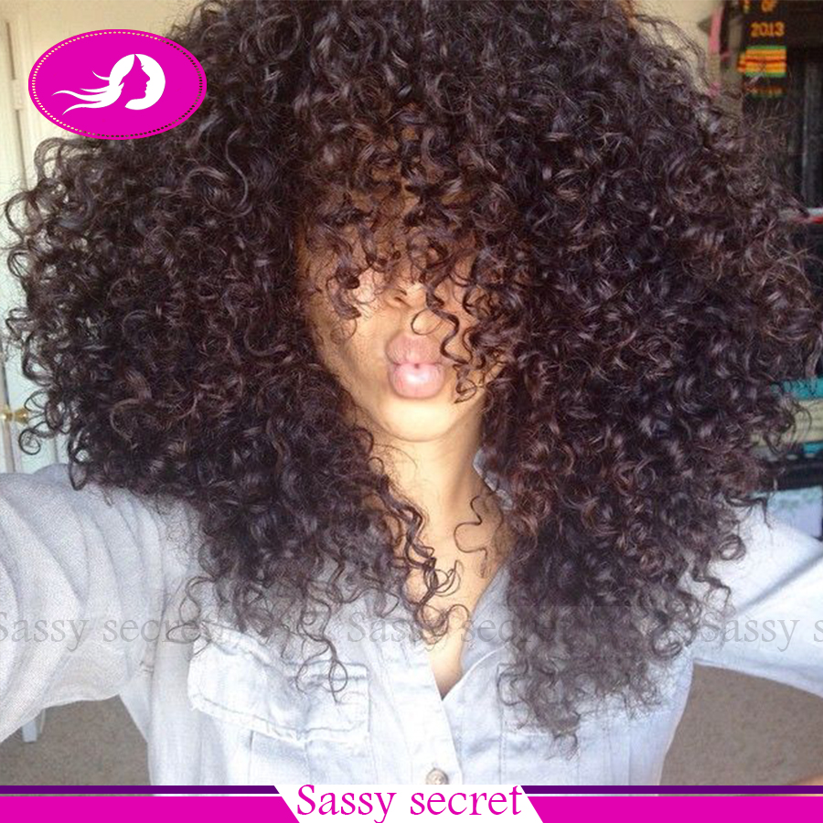 Afro Kinky Curly Lace Front Wigs 180% Density Heat Resistant Fiber Wig With Bangs Synthetic Lace Wigs For Black Women