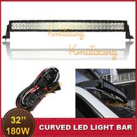 180W Curved LED Offroad Light Bar 12V 24V Epistar 18000lm Spot Flood Combo Beam ATV UTE Truck Trailer SUV 32 Inch Driving Lamp