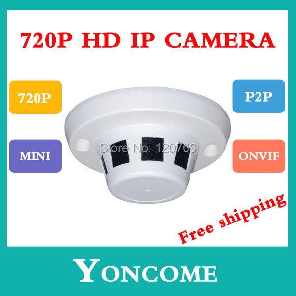 H.264 HD720P 1MP ONVIF Compliant Mini IP Camera Securiy HD Network CCTV Mega pixel indoor - Shenzhen Yoncome Security Video Co.,Ltd store