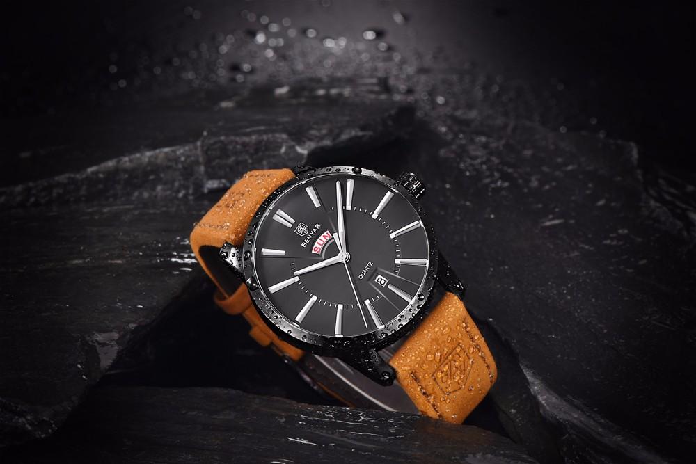 Мода Часы мужские Часы Люксовый Бренд Водонепроницаемый Кварцевые Кожаный Ремень Наручные Часы Мужчин Случайные Часы relojes hombre hodinky