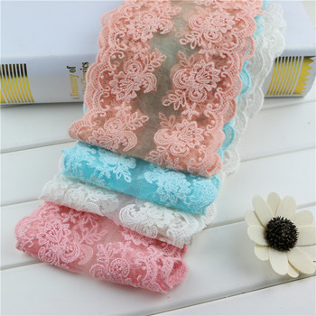 1Meters Beautiful Lace Ribbon fabric flower for Wedding Party Ceremoney Gift Decoration DIY Package Decor Wholesales width 12cm