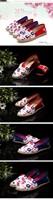 Женская Весна/лето случайный цветок печати холст плоский вождения обувь мокасины sapatos новый