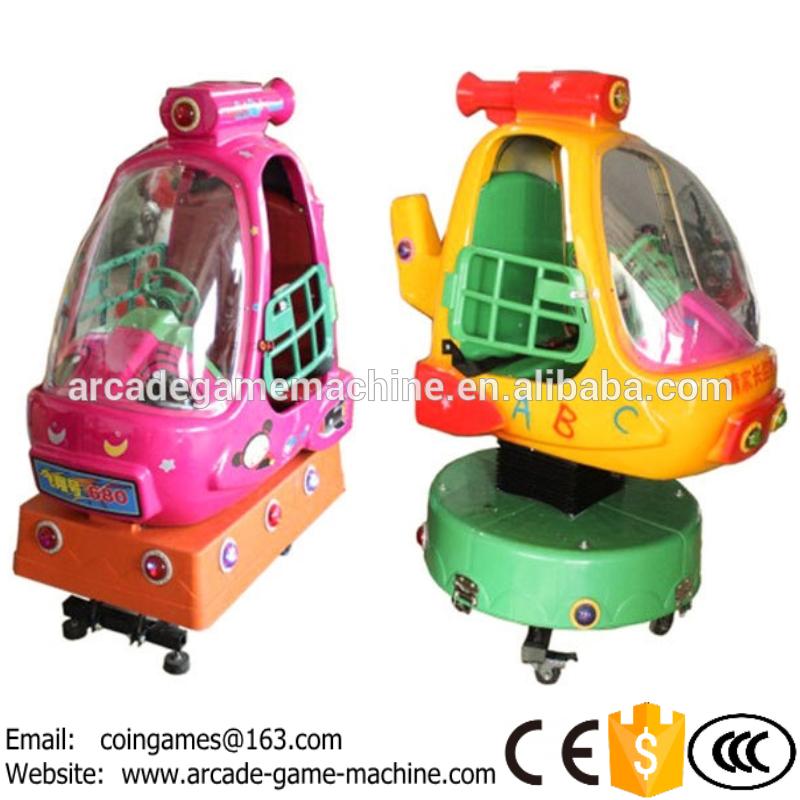 New Design Indoor Amusement Park Center Equipment Coin Operated Airplane Helicopter Kids Game Machine Kiddie Rides(China (Mainland))