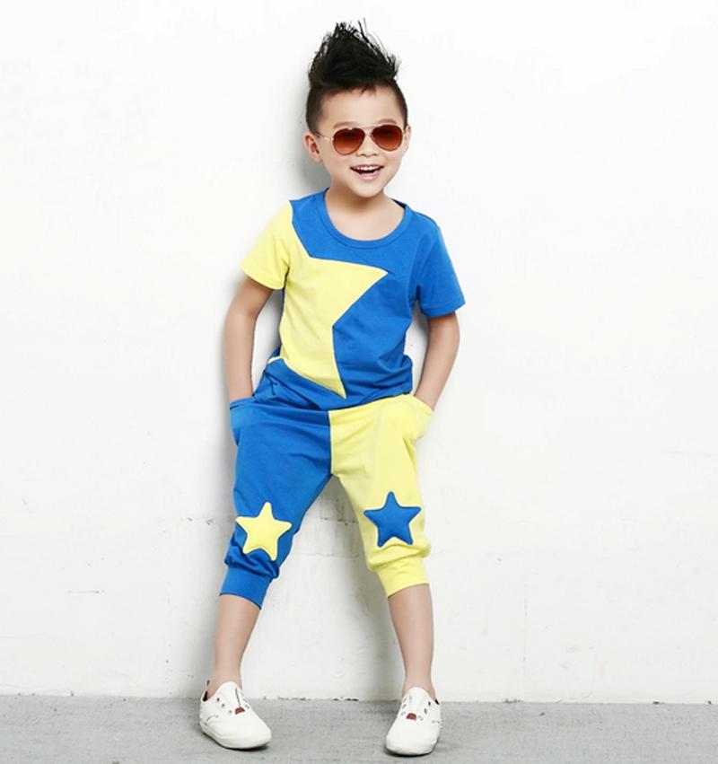 children clothing set stars boys fashion summer suit baby sets short t shirt+pants clothes kids - ben's store