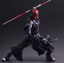 Play Arts Kai Darth Maul Star War PA Black Knight Darth Vader Imperial Stormtrooper 27cm PVC Action Figure Doll Toys Kids Gift