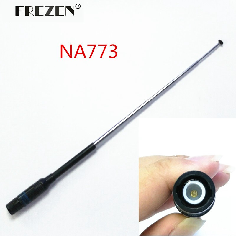 NA-773 144/430 MHz Telescopic Antenna BNC Connector For ICOM IC-V8/V82 Two Way Radio Free Shipping(China (Mainland))