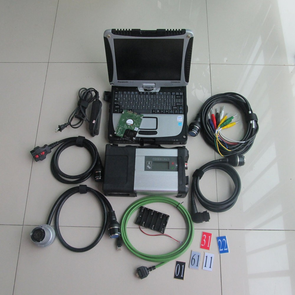 Newest wifi mb star diagnostic tool mb sd c5 with laptop for Mercedes benz diagnostic computer