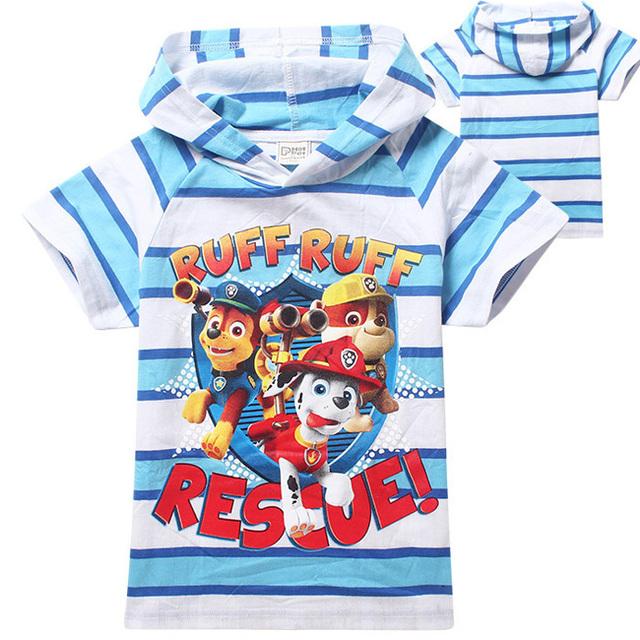 Малыш мальчик собака зума патруль майка летний стиль одежды плед с коротким рукавом детской одежды милые camiseta infantil menina