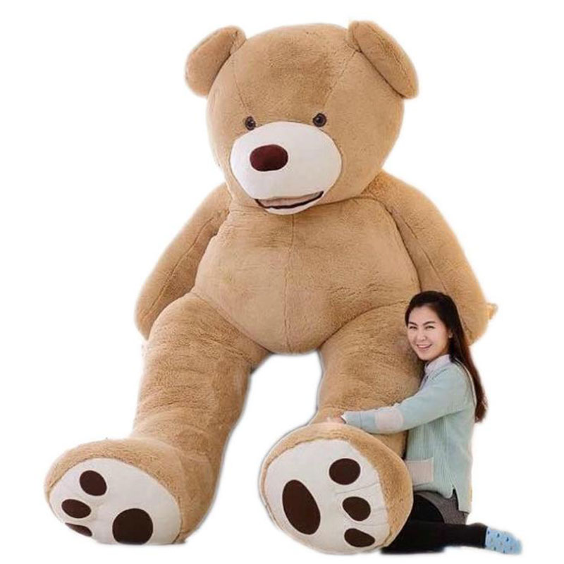 New Arriving 130cm 200cm Plush Skin Empty Huge Teddy Bear Plush Soft Toy Valentine's Day Gift HT3710(China (Mainland))