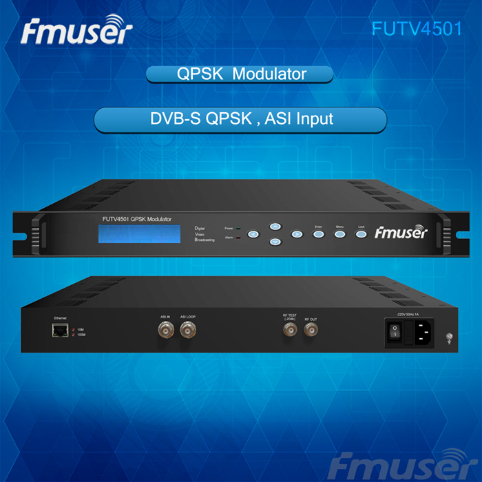 FUTV4501 QPSK modulator(ASI in,RF out) Interactive Services, News Gathering and other Broadband satellite applications(China (Mainland))