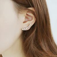 Серьги-гвоздики 18k ear cuff