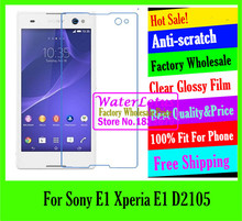 Buy Clear Glossy mobile protective film phone screen protector de pantalla projector LCD film case Sony E1 Xperia E1 D2105 for $1.33 in AliExpress store