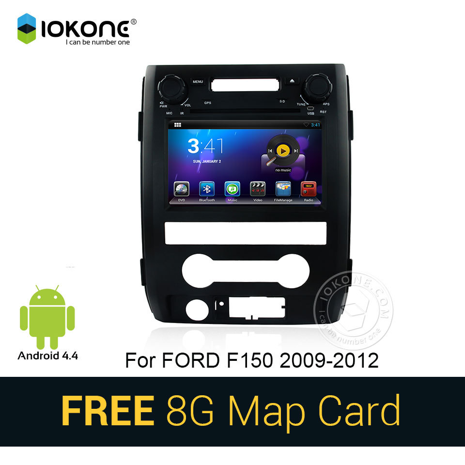 IOKONE Android 4.4 Car DVD Player for FORD F150 2009 2010 2011 2012 with GPS Stereo RDS radio bluetooth navi WIFI CANBUS SD map(China (Mainland))