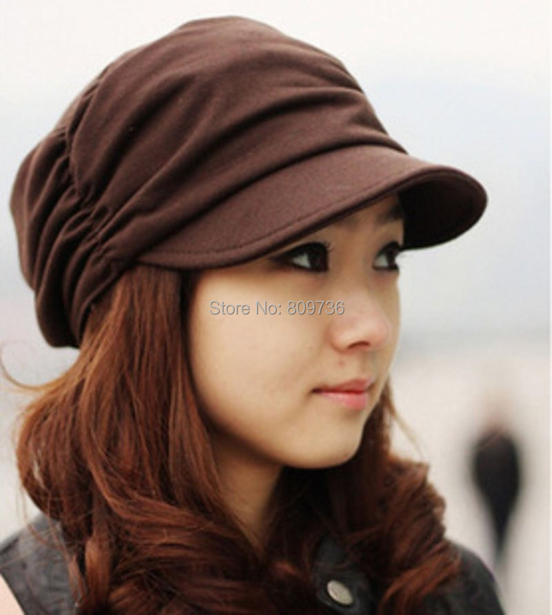 Hot 1PC Mens Women's Fashion Folds Beanie Hat Bulk Korean Unisex Cotton Hat Skull Ski Sun Caps Free(China (Mainland))