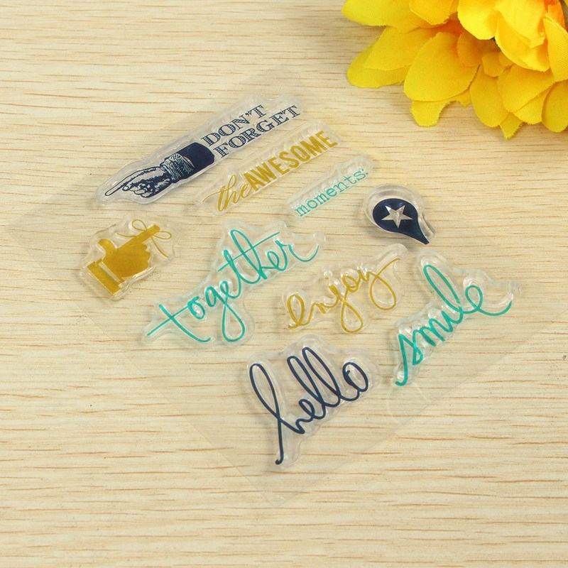1PCS Pattern Randomly Small Transparent Silicone Stamps Seal Ornaments Scrapbook Photo Album Card Hand Account Decor Supplies(China (Mainland))