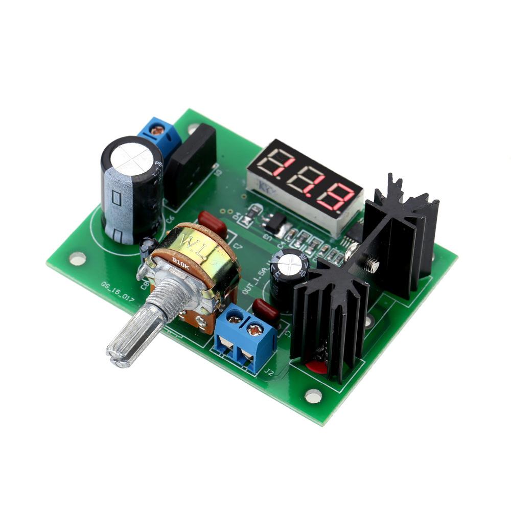 Фотография LM317 power supply board 2A 317 voltage regulator 317 adjustable voltage regulated power supply with digital voltage display