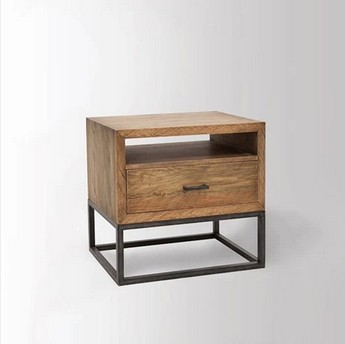 American Iron wood nightstand mobile bedside cabinet to do the old pine bedside lockers, shelving storage(China (Mainland))