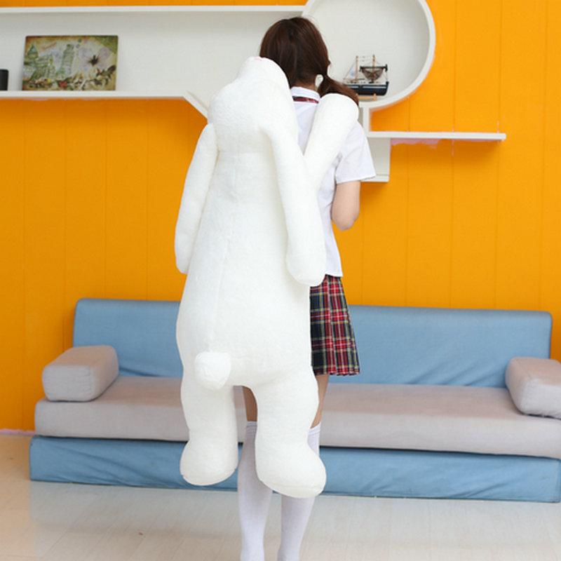 90cm Large Size Long Arm Rabbit plush Toys White soft goat Rabbit Cloth Doll Girl Sleep Bed Pillow Cushion birthday gfit(China (Mainland))
